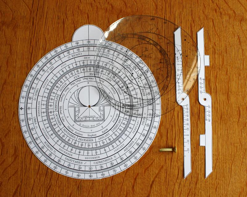 A cardboard model astrolabe