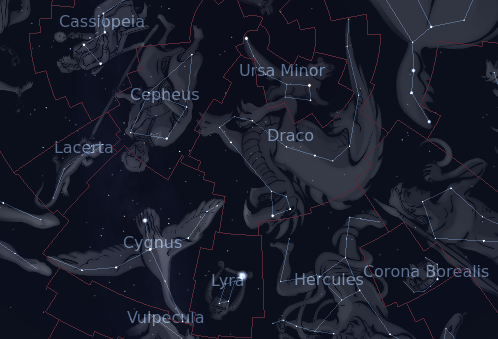 The Constellation Draco - In-The-Sky org