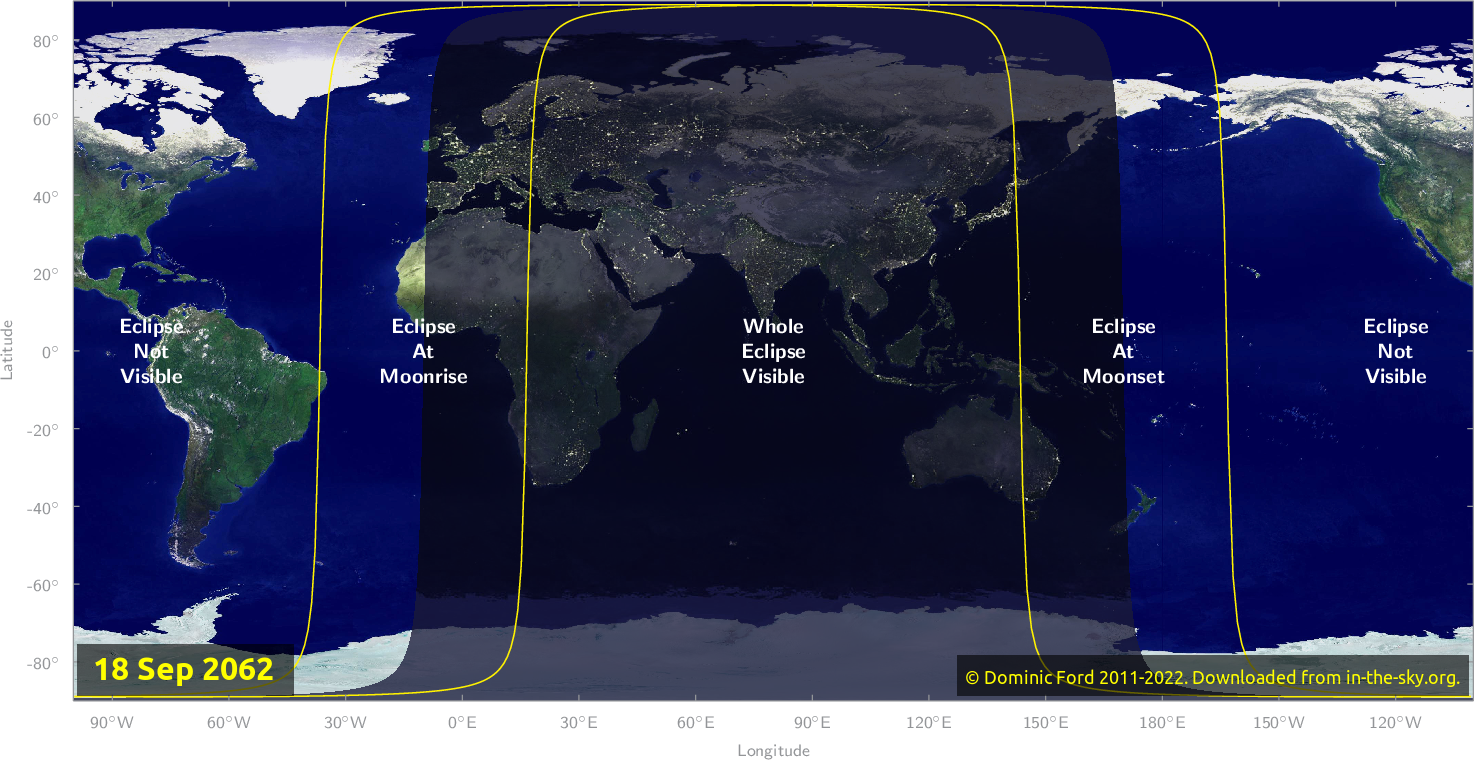 Map of where the eclipse of September 2062 will be visible.