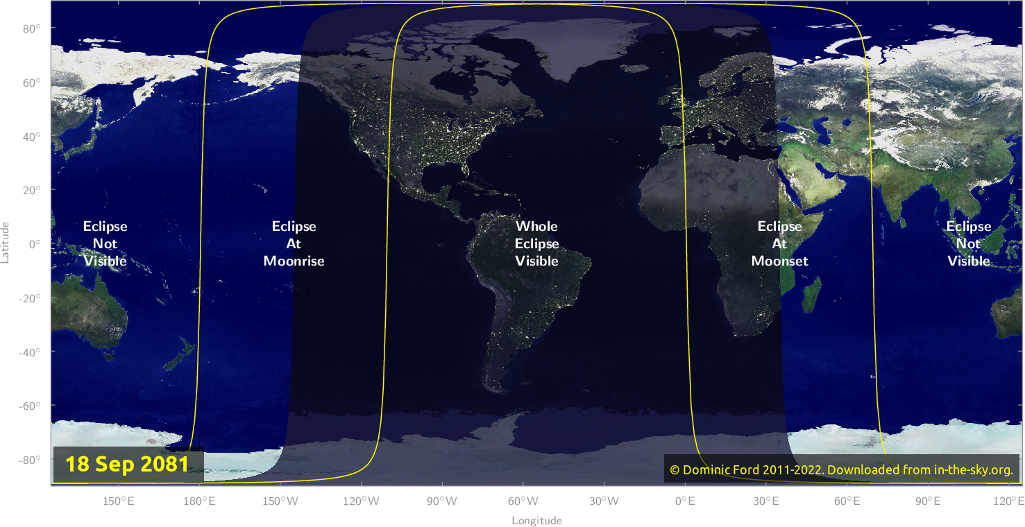 Map of where the eclipse of September 2081 will be visible.