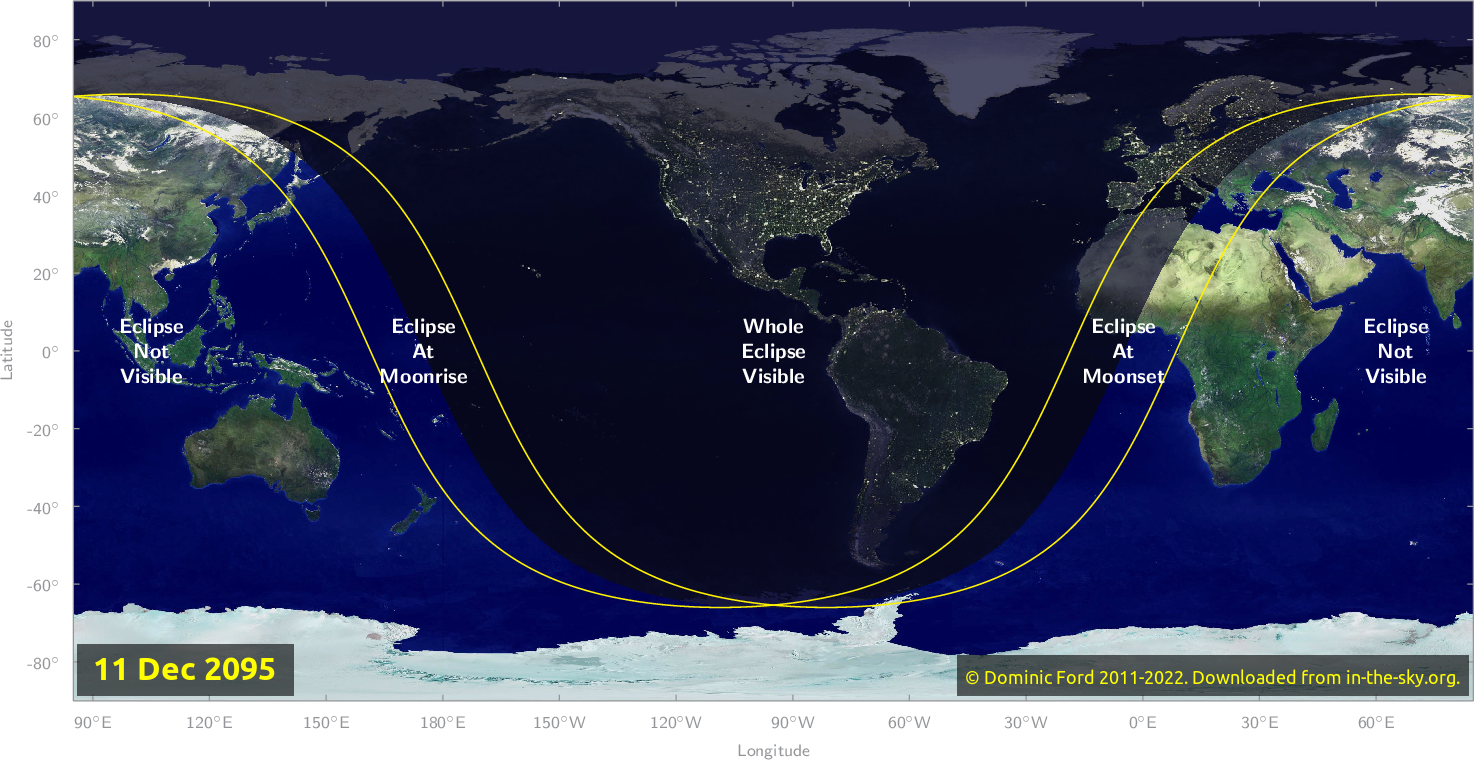 Map of where the eclipse of December 2095 will be visible.
