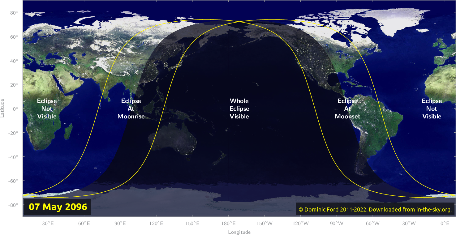 Map of where the eclipse of May 2096 will be visible.