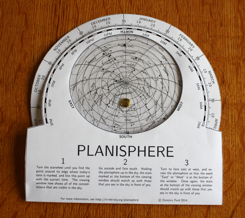Make Your Own Planisphere In The Sky Org